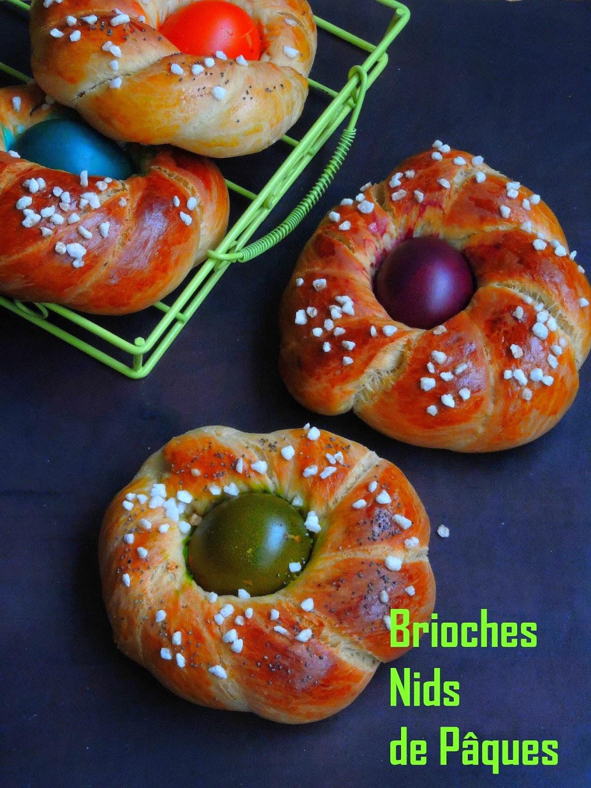 Brioches Nids de Pâques, Easter Brioche Nest
