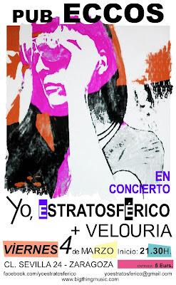 Concierto de Veloruria y Yo, estratosférico en Zaragoza
