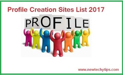 High PR Profile Creation Sites List 2019  - NewTechyTips