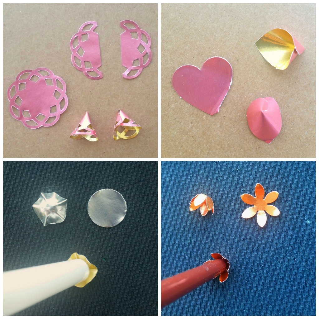 Foiled Paper Beads