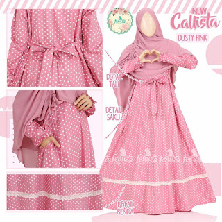 Gamis Fenuza Callista Dusty Pink