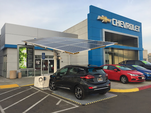Solar Charging Station Canopies