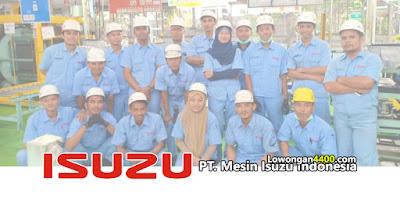 Lowongan Kerja PT. Mesin Isuzu Indonesia Bekasi Terbaru
