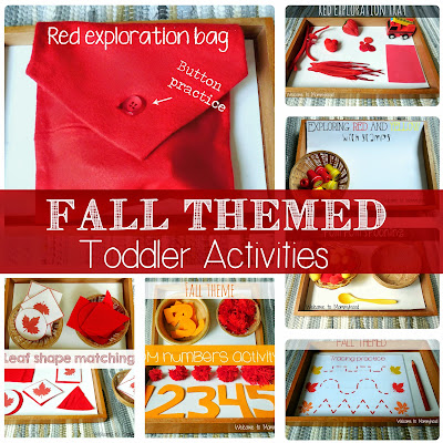 Fall activities for toddlers by Welcome to Mommyhood #montessori #toddleractivities #FallActivitiesForToddlers