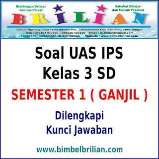 Soal UAS IPS Kelas 3 SD Semester 1 ( Ganjil ) Dan Kunci Jawaban