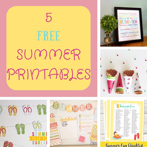 5 free summer printables