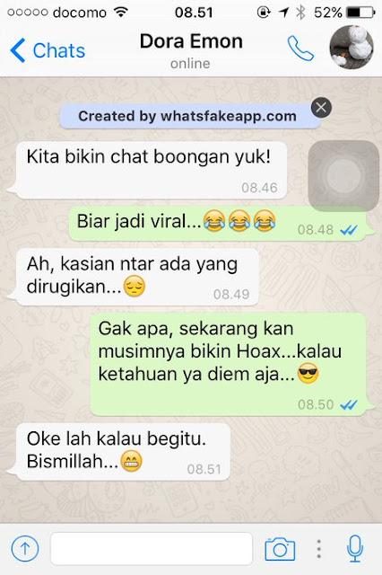 Waspada! Ternyata Begini Cara Orang-Orang Buat Percakapan Hoax di WhatsApp