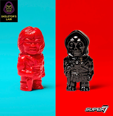 San Diego Comic-Con 2017 Exclusive Masters of the Universe Red & Black He-Man & Skeletor Micro Vinyl Figures by Super7