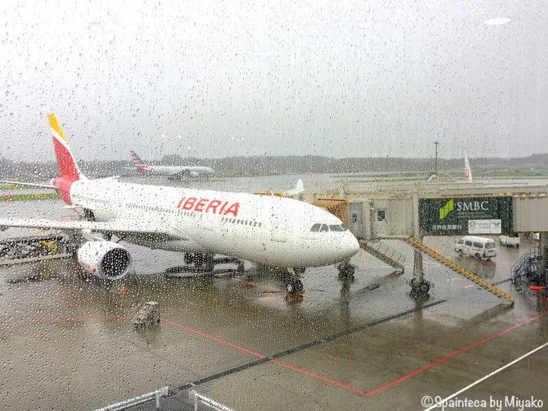 スペイン直行便のイベリアの飛行機