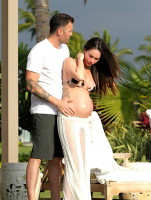Megan Fox Damn Hot in Lacy Lingerie on Sofa | Megan Fox Pregnant Belly