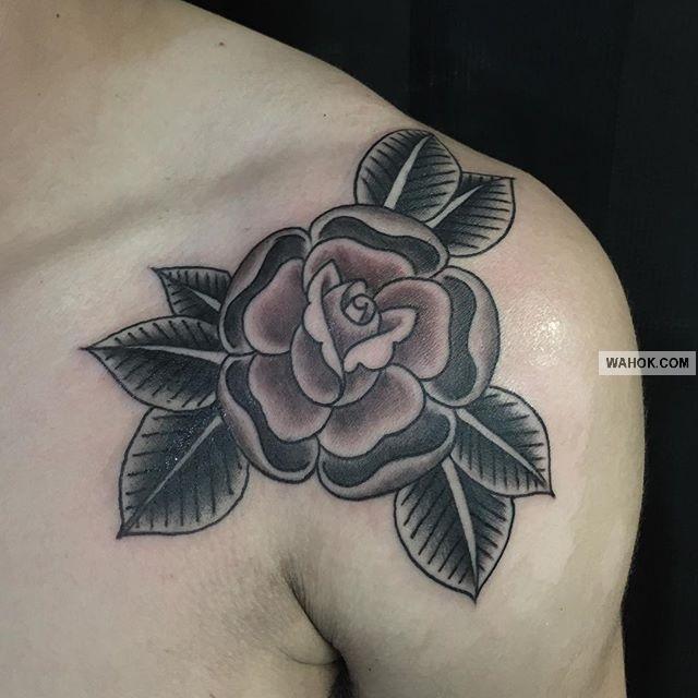 100 Gambar Tato 3d Bunga Mawar Rose Di Lengan Dada Punggung Leher