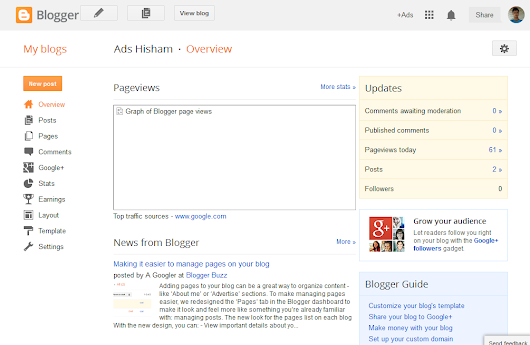 How To Post News in Blogger - Ads Hisham