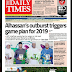 NAIJA NEWSPAPERS: TODAY'S THE DAILY TIMES NEWSPAPER HEADLINES [8TH SEPTEMBER, 2017].
