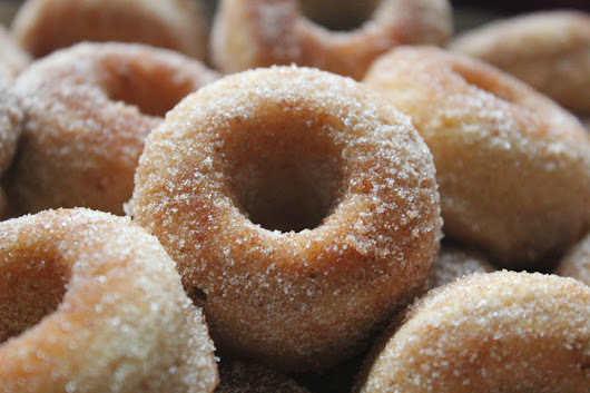 Mini Baked Apple Cider Doughnuts