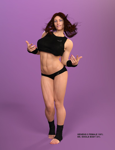 Ms SWOLE for Genesis 8 Female