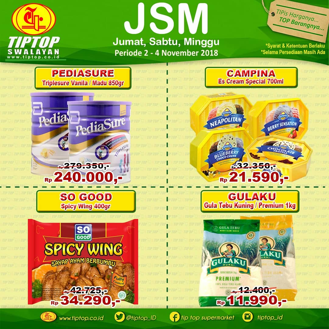 TipTop - Promo Katalog JSM Periode 02 - 04 November 2018