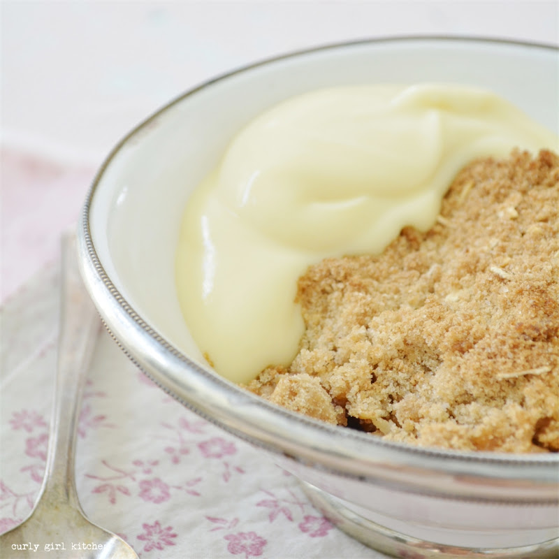 Rhubarb Crumble and Custard
