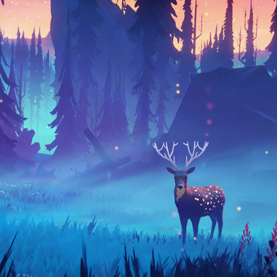 Deer Landscape Wallpaper Engine