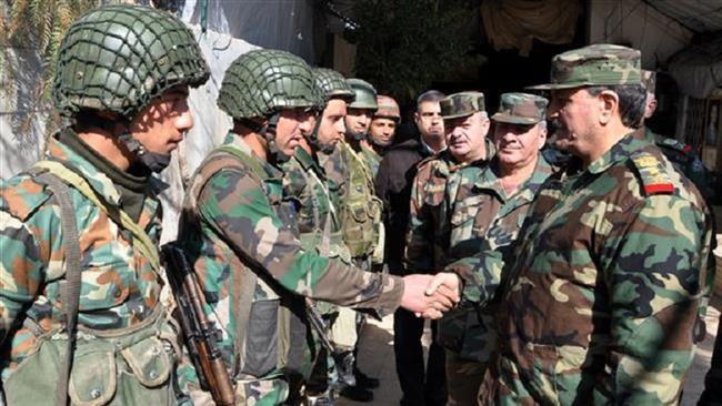 Syrian defense minister Major General Fahd Jassem al-Freij hails Iran, Russia support in fighting terrorism