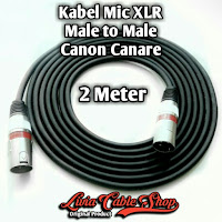 Kabel Mic XLR 2 Meter Male to Male Jack Canon Canare