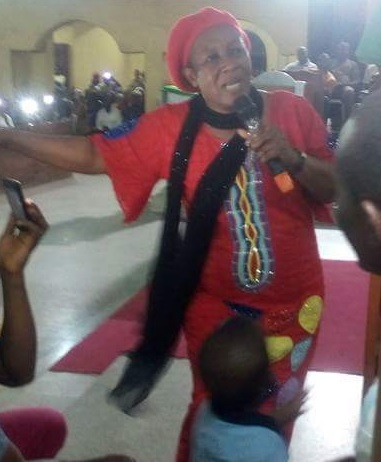 Lady Evangelist Patience Ozokwor Mama Gee Ministers At Anglican Church In Alaba Lagos