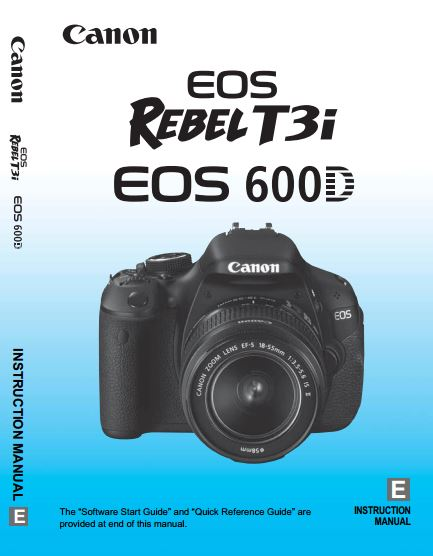 Canon EOS 600D / Rebel T3i PDF User Guide / Manual Downloads