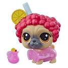 LPS Series 4 Thirsty Pets Pug (#4-164) Pet