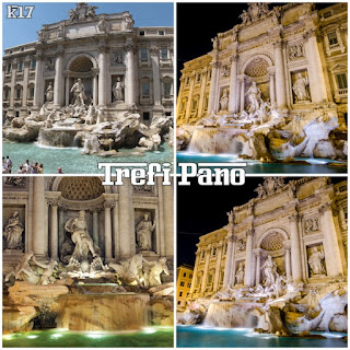 Patung Trevi Pano roma italia