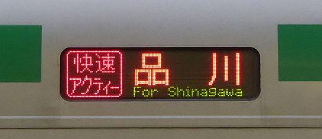 【19日限定】快速アクティー品川行き E231系1000番台(2016.11品川駅工事に伴う運行)