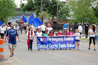 BFCCPS marching in the 2015 Memorial Day parade