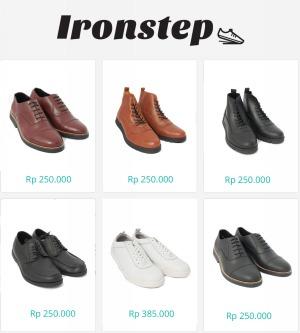 Sepatu kulit ironstep