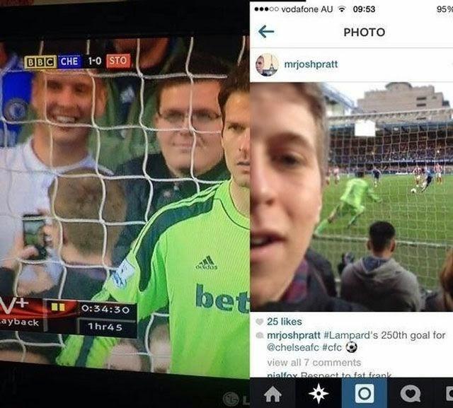 Graciosas Selfies en el momento exacto.