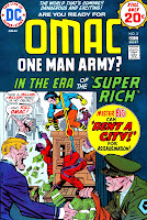 Omac v1 #2 dc bronze age comic book cover art by Jack Kirby