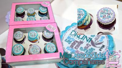 Cupcakes personalizados fondant impresión comestible druni Laia's Cupcakes Puerto Sagunto