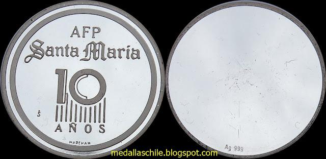 Medalla AFP Santa Maria