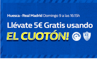 william hill promocion Huesca vs Real Madrid 9 diciembre