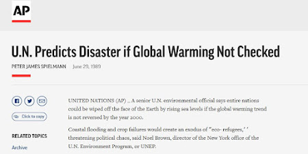 U.N. Predicts Disaster if Global Warming Not Checked