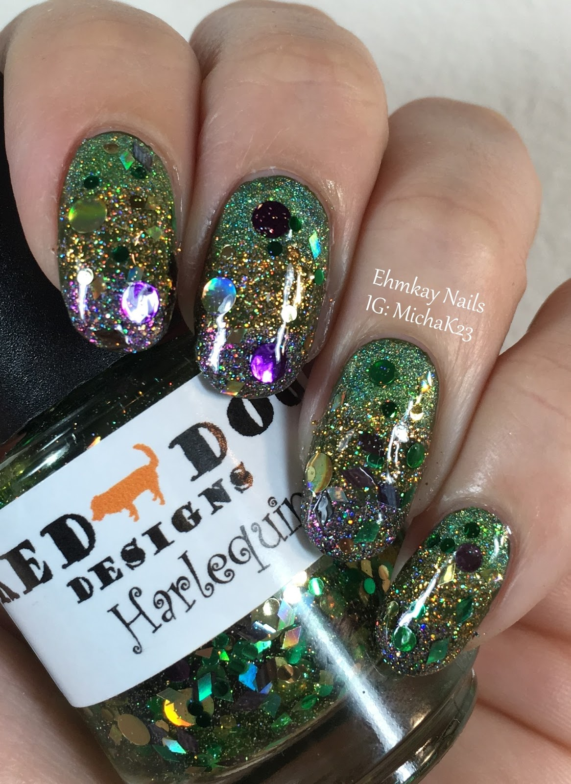 Ehmkay Nails New Year S Eve Nail Art With Kbshimmer Bling