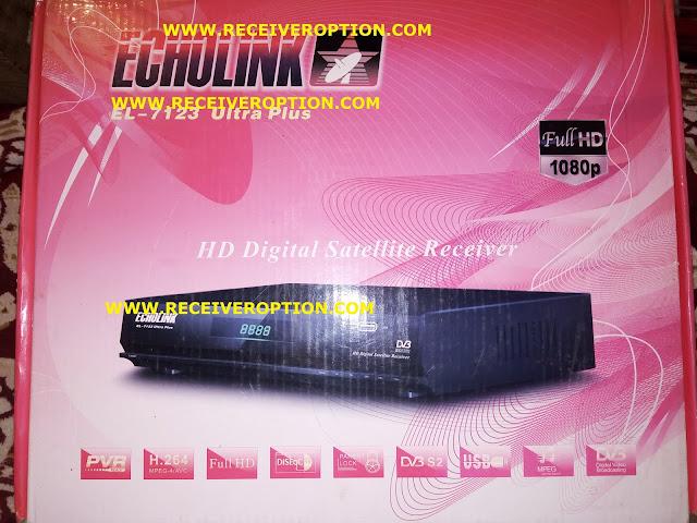 ECHOLINK EL-7123 ULTRA PLUS MPEG RECEIVER BISS KEY OPTION