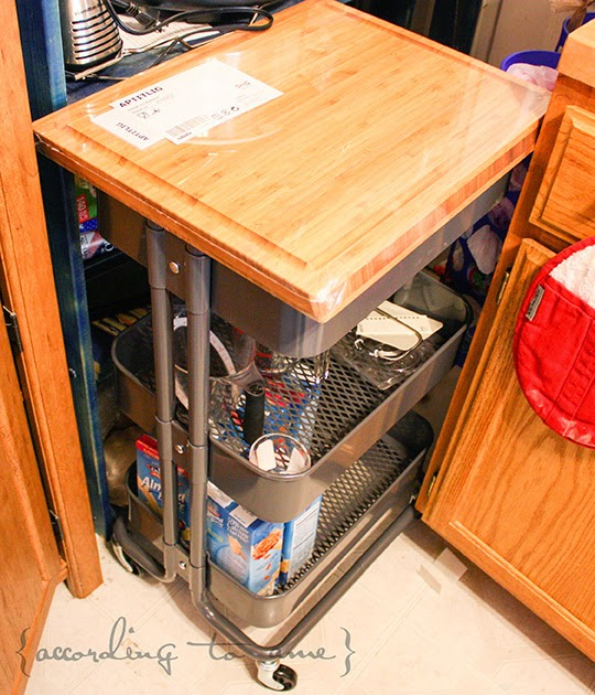 Ikea Kitchen Cart Hack: { According To Ame }: Totally Obsessed ::: Ikea Raskog Cart