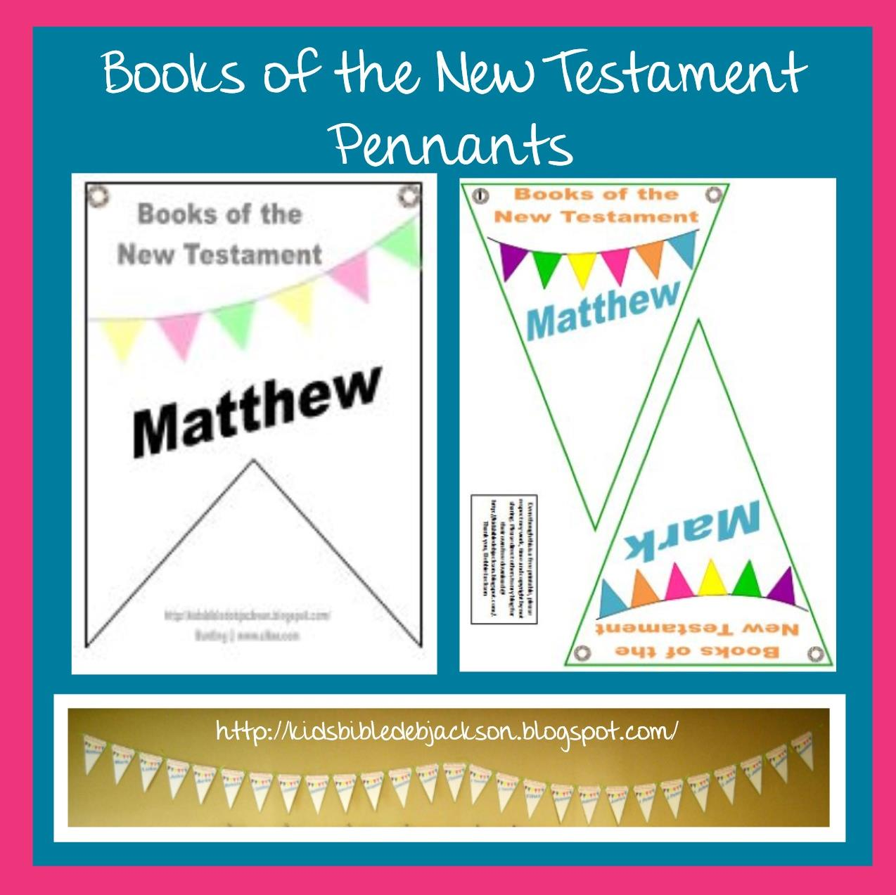 Bible Fun For Kids Books Of The New Testament Pennants