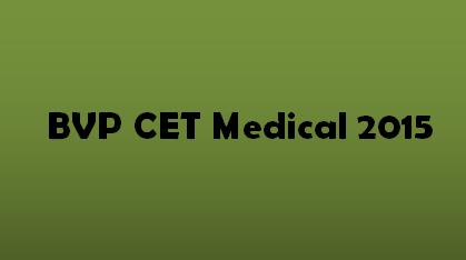 BVP CET Medical 2015 Logo