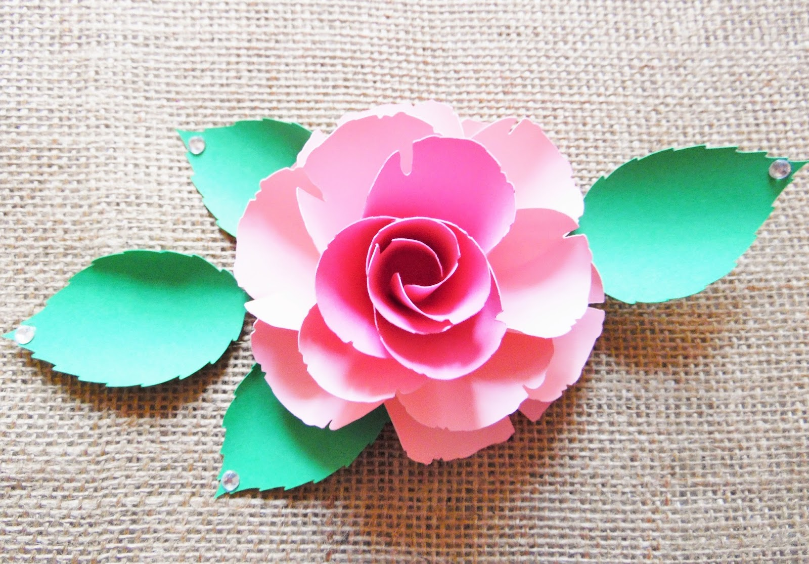 In a bed of paper roses how to make easy diy paper roses abbi ruby rose mightylinksfo