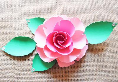 Paper Rose Template 9