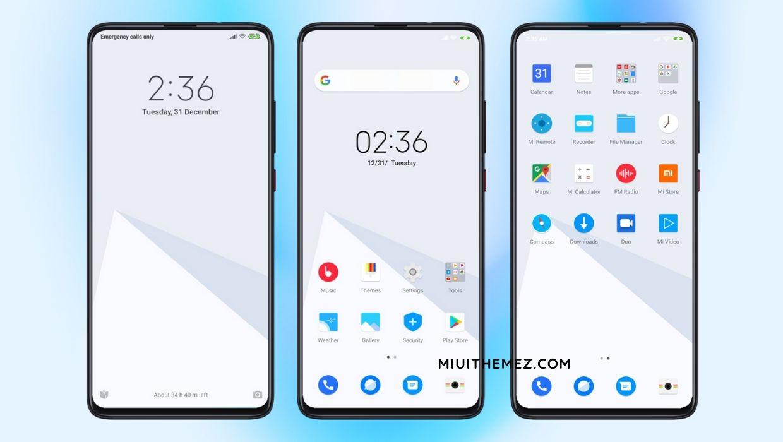 [HERUNTERLADEN] : PURE UI V11 MIUI-Thema für White Look auf Xiaomi-Geräten