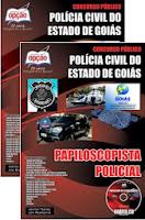 Apostila Polícia Civil de Goiás - Papiloscopista Policial, concurso PC-GO.