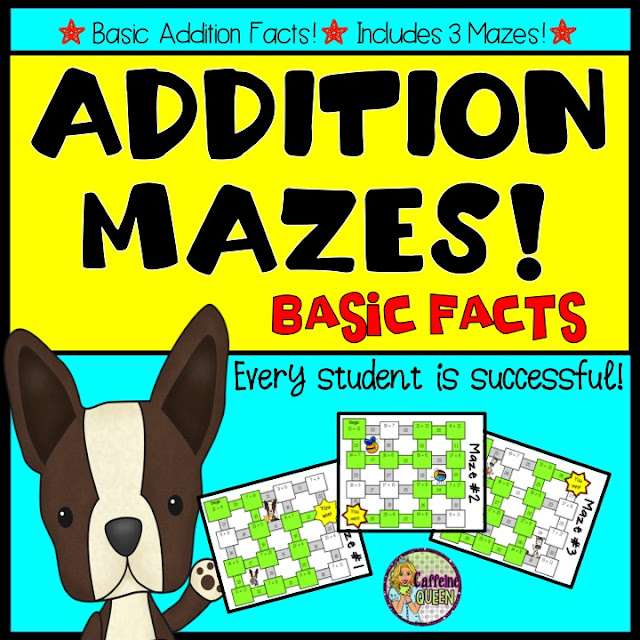 Basic Addition Fact Mazes - Every Student is Successful!