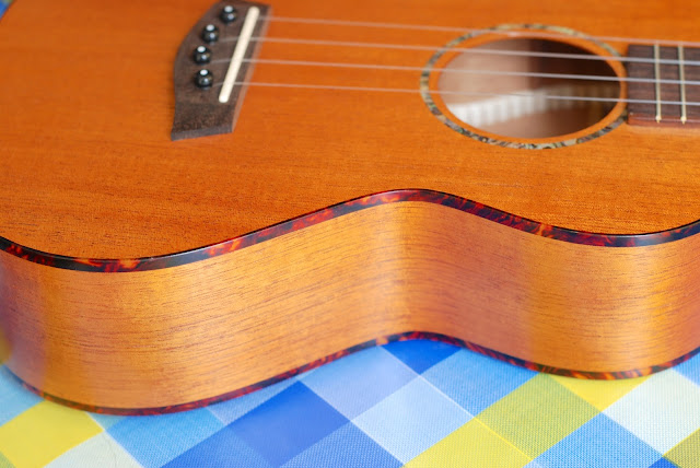 Islander MST-4 ukulele sides and binding