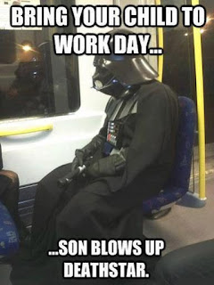 Bring Your Child To Work Day, Son Blows Up The Death Star