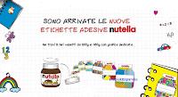 Logo Nutella ti regala milioni di coloratissime etichette adesive a forma di vasetti di Nutella